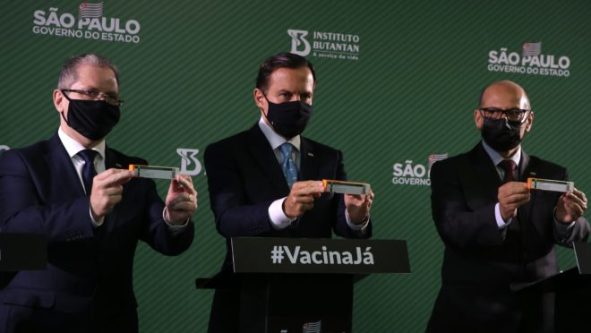 invistaja.info - Butantan entrega 1,5 milhão de doses da CoronaVac; Doria garante cumprimento de prazo